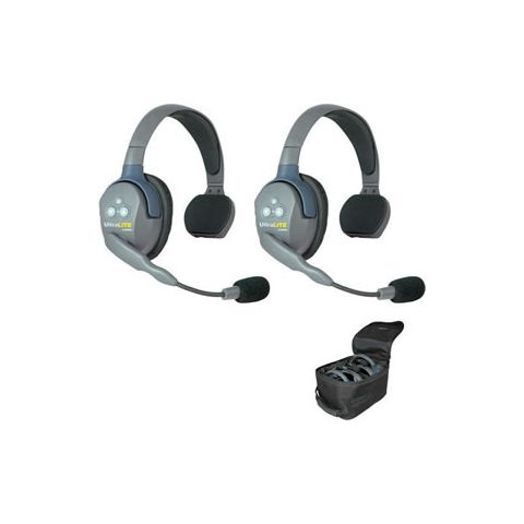 Eartec UltraLITE 2 person system with 2 Single Headsets