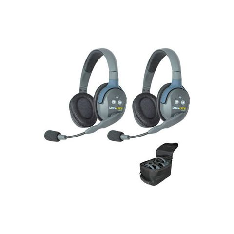 Eartec UltraLITE 2 person system with 2 Double Headsets