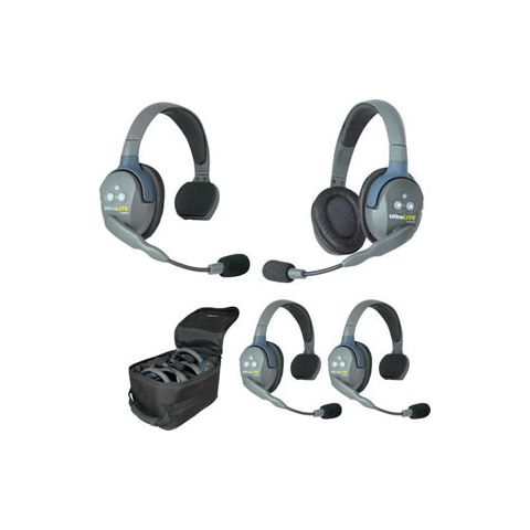 Eartec UltraLITE 4 person system with 3 Single 1 Double Headset