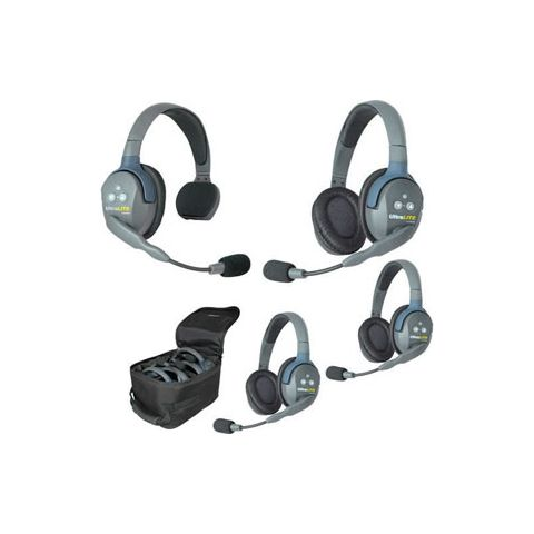 Eartec UltraLITE 4 person system with 1 Single 3 Double Headset