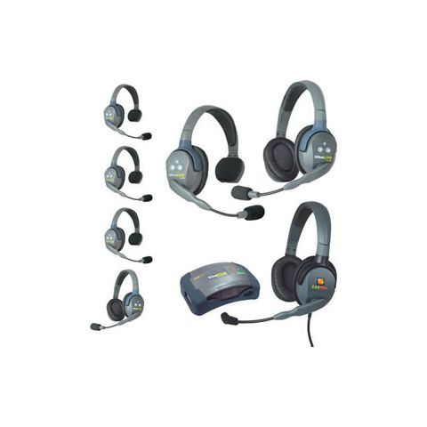 Eartec UltraLITE HUB 7 person system with 4S 2D Headset